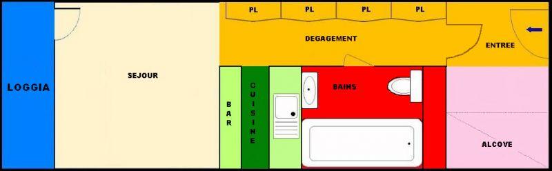 Property map Location Studio apartment 211 Les Arcs
