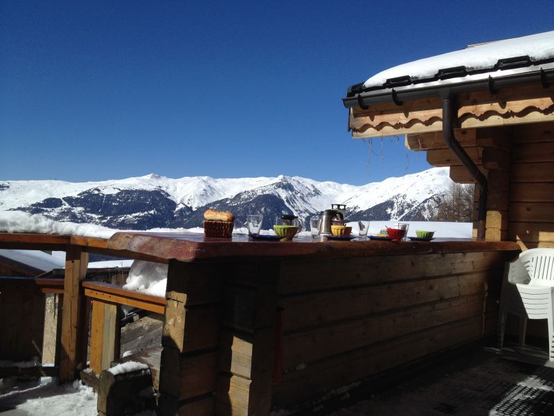 View from terrace Location Chalet 2248 La Plagne