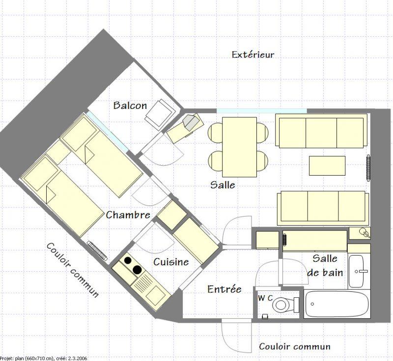 Property map Location Apartment 2265 La Plagne