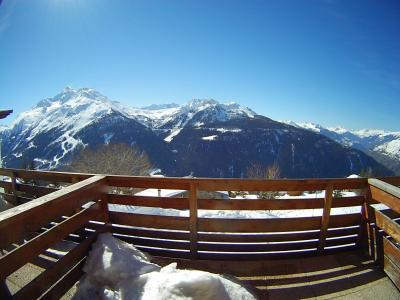 View from terrace Location Studio apartment 2476 La Rosière 1850
