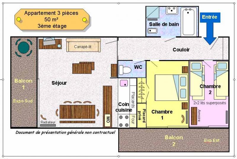 Property map Location Apartment 26960 Les 2 Alpes