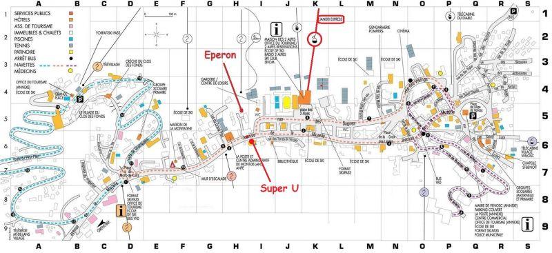 Area map Location Apartment 26960 Les 2 Alpes