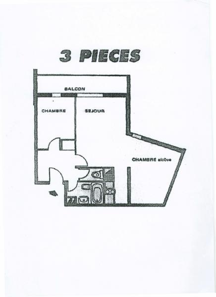 Property map Location Apartment 2813 Les Sept Laux