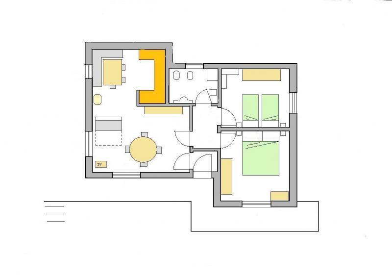 Property map Location Apartment 28148 Selva di Cadore