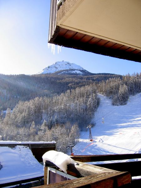 View from the balcony Location Studio apartment 2892 Serre Chevalier