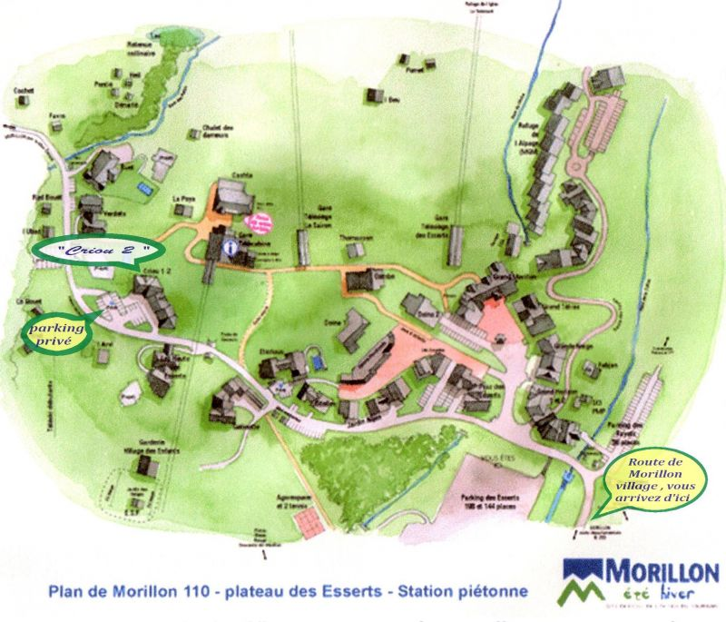 Area map Location Apartment 29272 Morillon Grand Massif