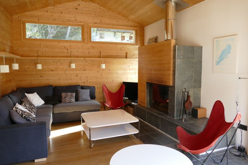 Sitting room Location Chalet 32551 Les Contamines Montjoie