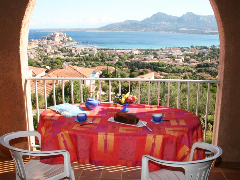 View from terrace Location Apartment 32806 Calvi