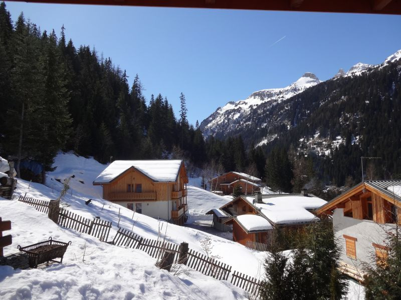 View from terrace Location Chalet 3291 Valfréjus