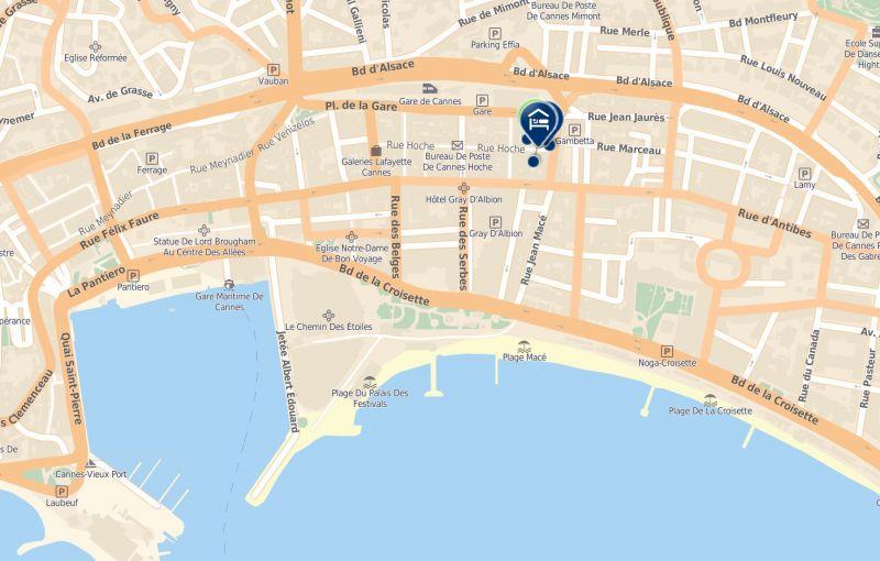 Location Studio apartment 33342 Cannes