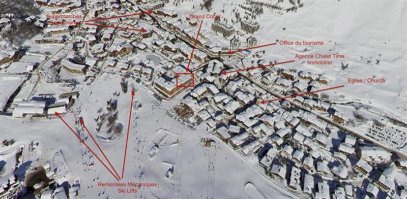 Property map Location Apartment 3359 Val d'Isère