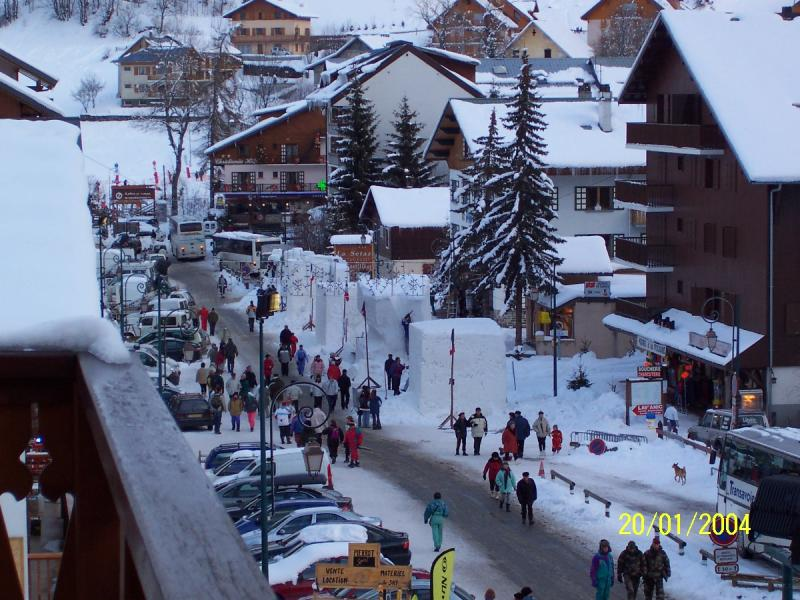 View from the balcony Location Studio apartment 3385 Valloire