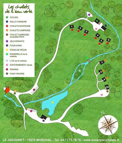 Property map Location Chalet 3790 Besse - Super Besse