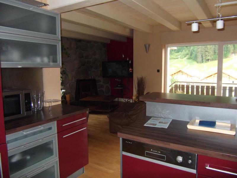 Open-plan kitchen Location Apartment 39512 Gérardmer