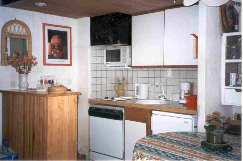 Open-plan kitchen Location Studio apartment 424 Avoriaz