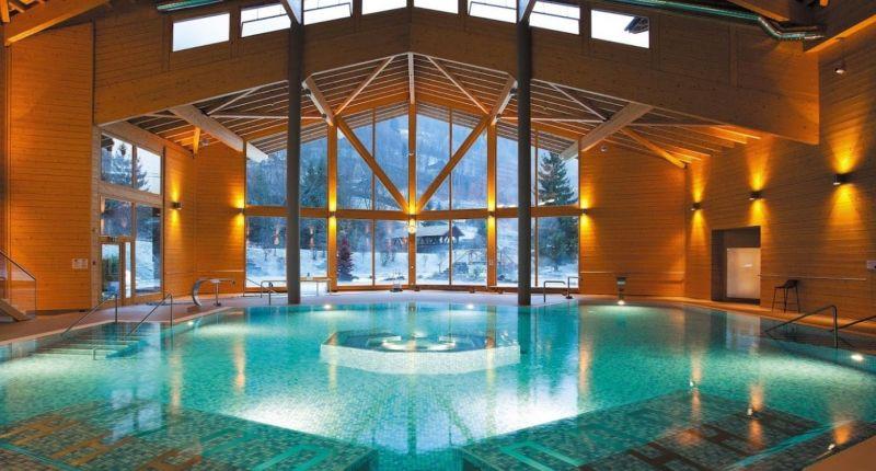 Swimming pool Location Studio apartment 4698 Les Crosets
