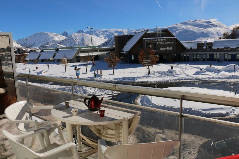 View from terrace Location Apartment 50609 Alpe d'Huez