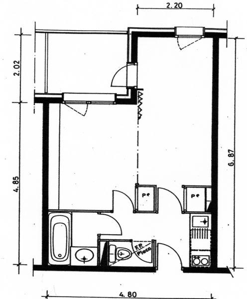 Property map Location Studio apartment 53667 Valmorel