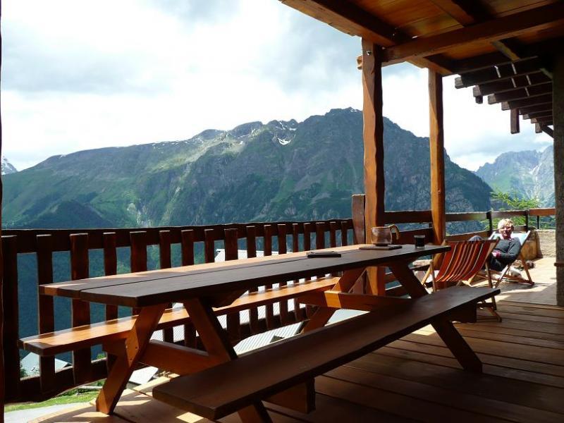 Balcony Location Chalet 54265 Alpe d'Huez