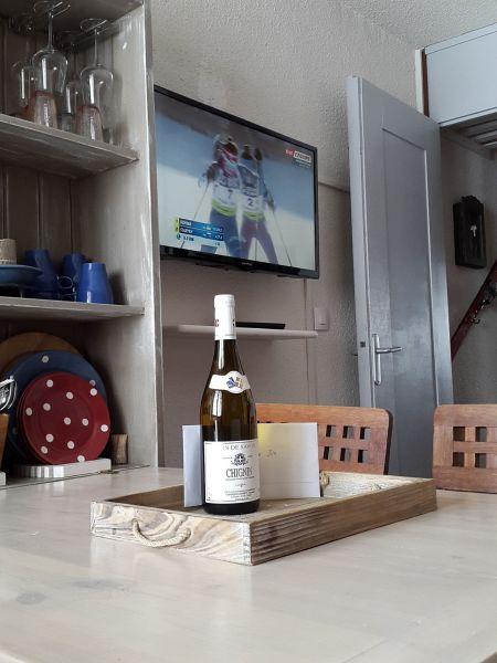 Living room Location Studio apartment 58187 La Plagne