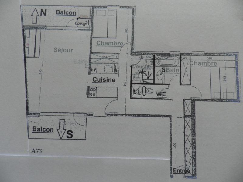Property map Location Apartment 58207 La Plagne