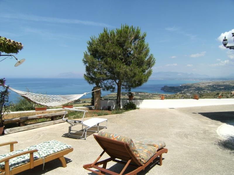 View from terrace Location Villa 58328 Scopello