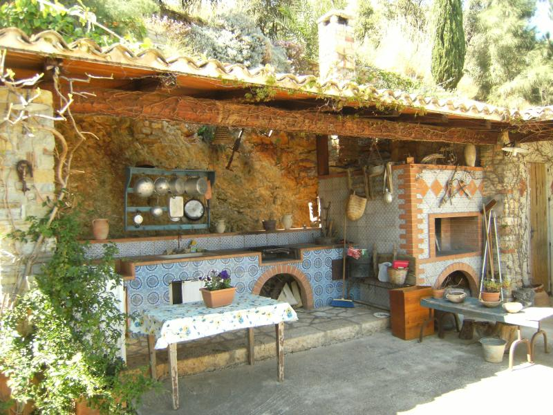 Summer kitchen Location Villa 58328 Scopello