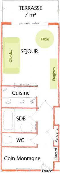 Property map Location Studio apartment 58480 Alpe d'Huez