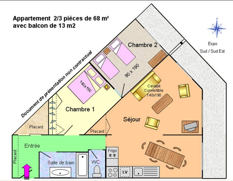 Property map Location Apartment 58575 Les 2 Alpes