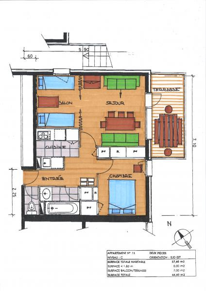 Property map Location Apartment 58961 Valmorel
