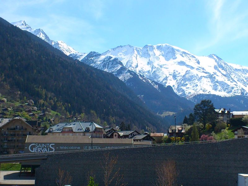 View from the balcony Location Apartment 59536 Saint Gervais Mont-Blanc