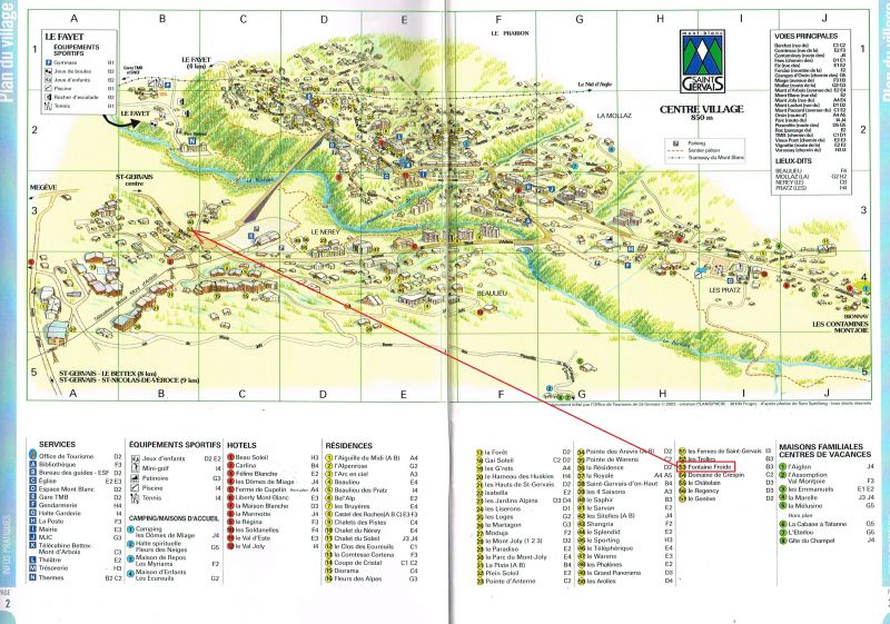 Property map Location Apartment 59536 Saint Gervais Mont-Blanc