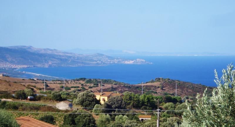 View from terrace Location Apartment 60142 Isola Rossa