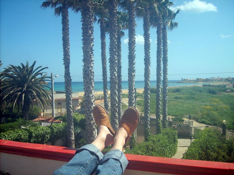 View from the balcony Location Apartment 63092 Avola