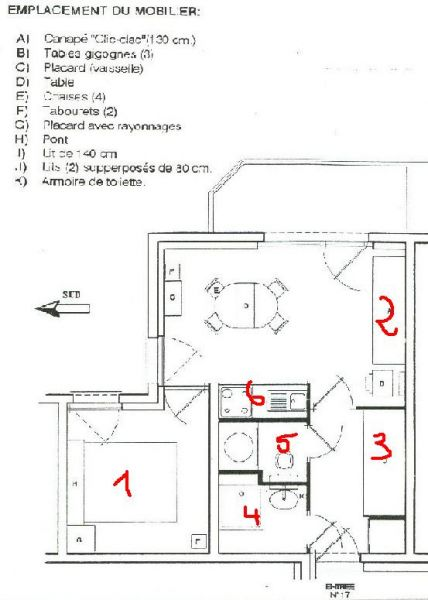 Property map Location Apartment 784 Châtel