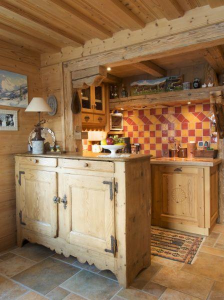 Open-plan kitchen Location Chalet 912 Combloux