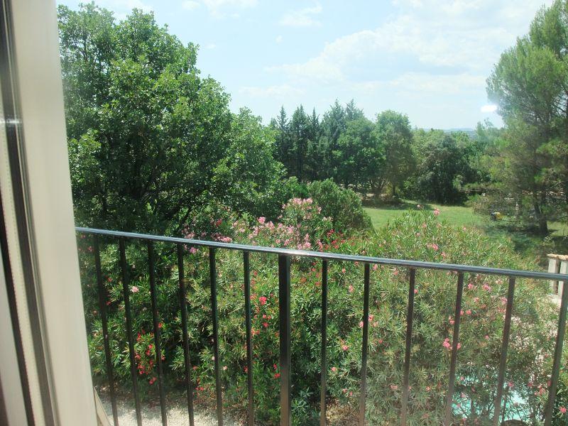 View from the balcony Location Villa 103766 Anduze