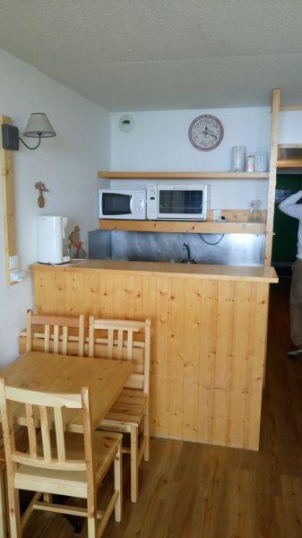 Open-plan kitchen Location Studio apartment 111906 Les Arcs