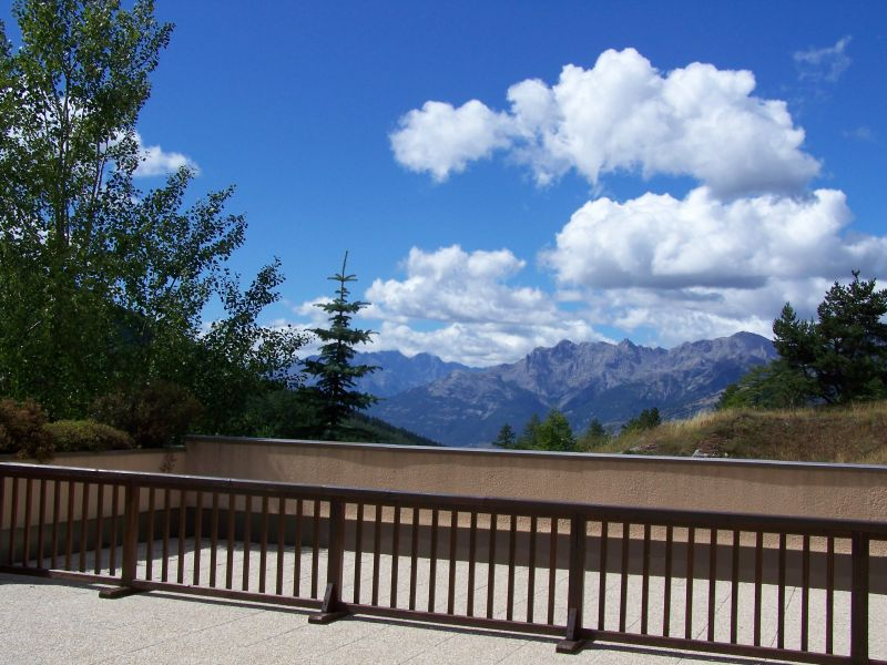 View from terrace Location Apartment 87141 Montgenevre