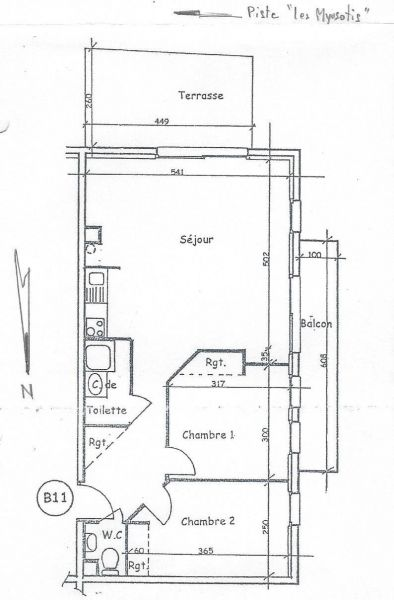 Property map Location Apartment 97230 Valloire