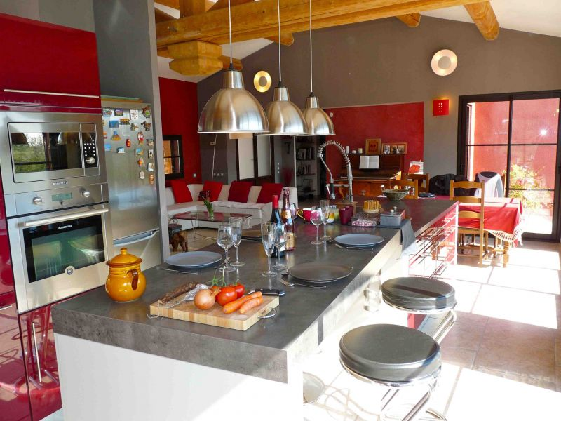 Open-plan kitchen Location Villa 109342 Aix en Provence