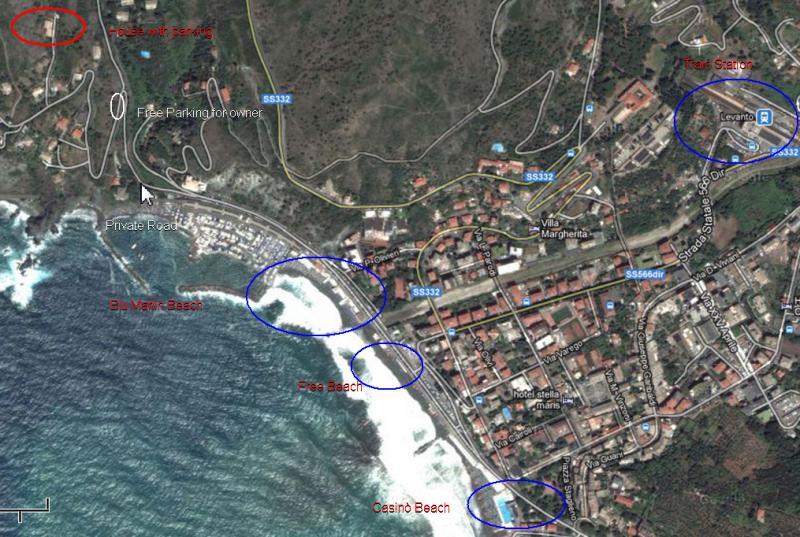 Area map Location Apartment 75601 Levanto