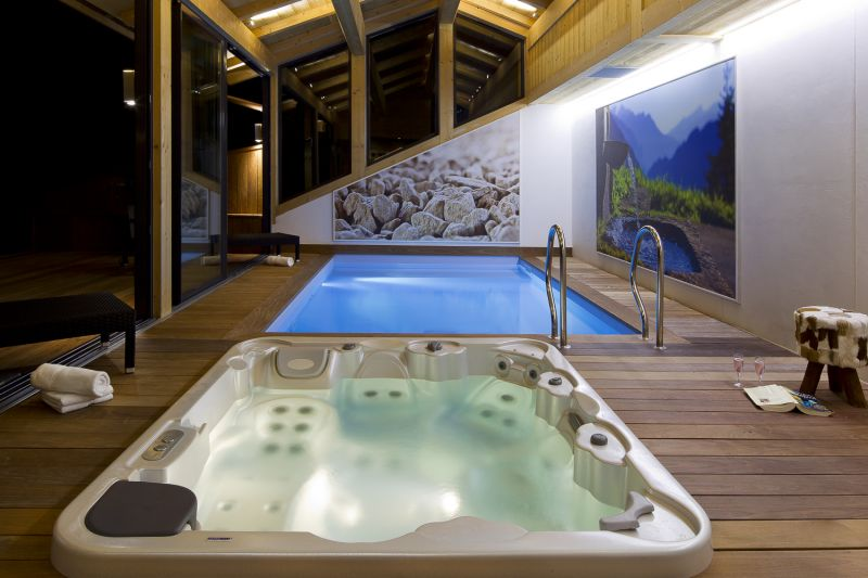 Swimming pool Location Chalet 86535 Le Grand Bornand