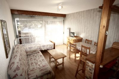 Living room Location Studio apartment 88307 Les 2 Alpes
