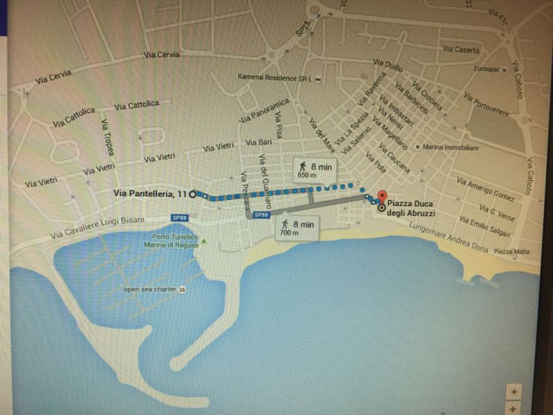 Area map Location Apartment 103248 Marina di Ragusa