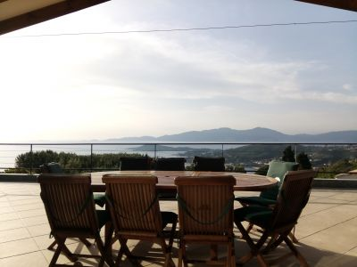 View from terrace Location Villa 114573 Porticcio