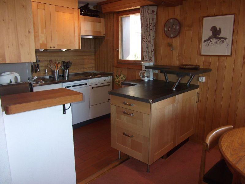 Open-plan kitchen Location Apartment 117455 Verbier