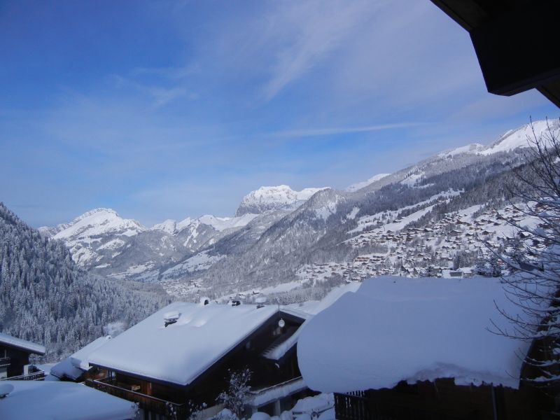 View from the balcony Location Chalet 73726 Châtel