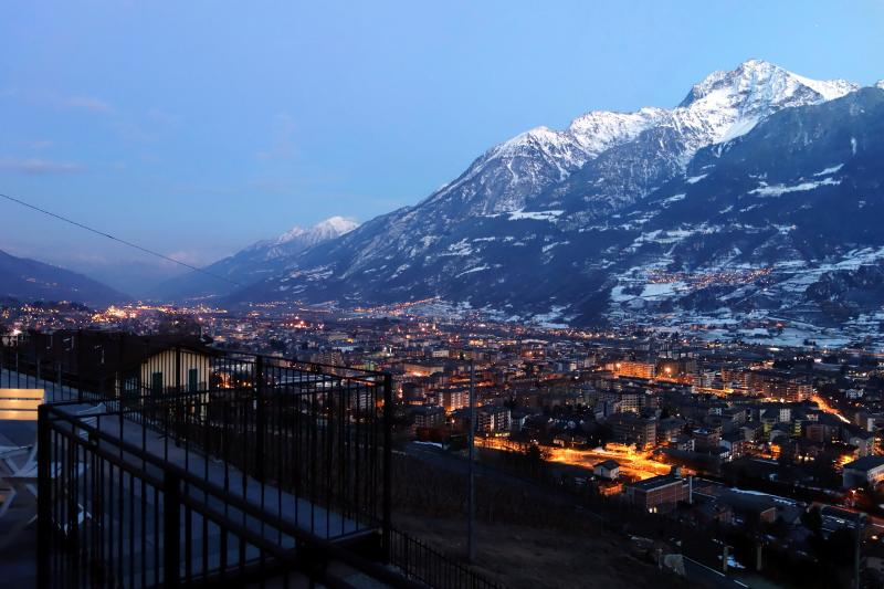 View from the balcony Location Apartment 75618 Aosta