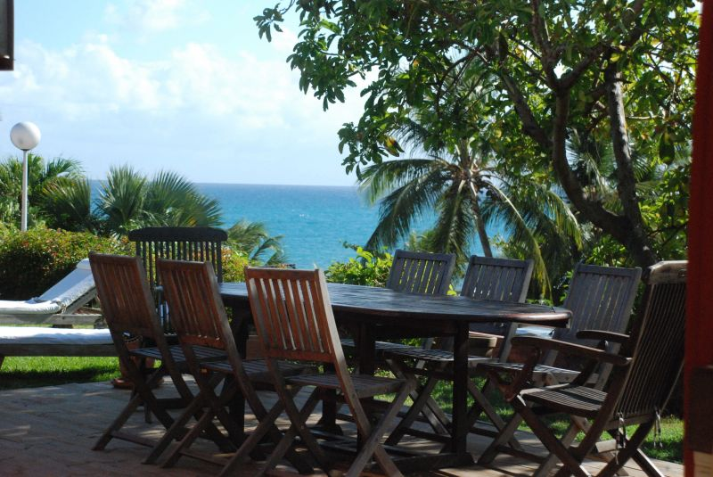 View from terrace Location Villa 116237 Saint Francois
